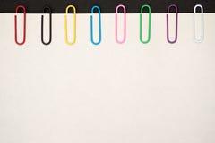 Paper-clip verticale Fotografie Stock