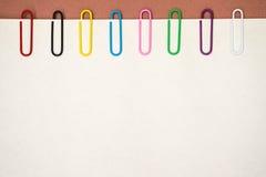 Paper-clip verticale Fotografie Stock Libere da Diritti