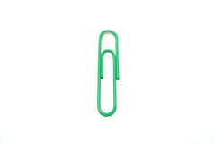 Paper clip on white background. Photo shoot Royalty Free Stock Images