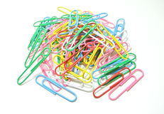 Paper clip on white background Royalty Free Stock Photo