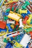 Paper-clip y gráfico-contacto Foto de archivo