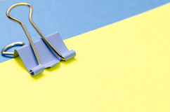 Paper and clip Royalty Free Stock Images
