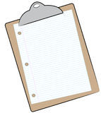Paper on clipboard Stock Image
