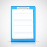 Paper in Clipboard Stock Photo