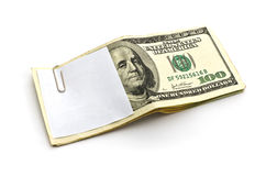 Paper cliping on cash Royalty Free Stock Photography