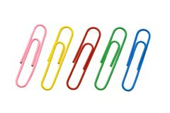 Paper clips. On a white background Stock Photo