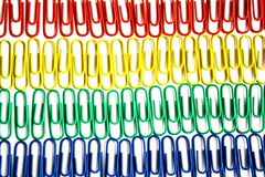 Paper Clips. On a white backgroun, to connect the different documents Stock Photography