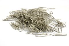 Paper clips. Isolated on white background Stock Photo