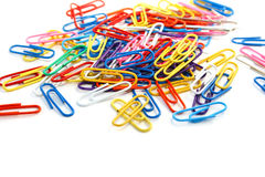 Paper clips Royalty Free Stock Photos