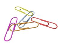 Paper clips. Isolated Paper clips on a bacgground Stock Photo
