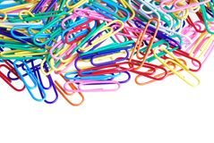 Paper clips. Isolated paper clips on a white background Royalty Free Stock Photos