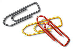 Paper clips. On white ground Stock Photography