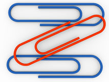 Paper clips Royalty Free Stock Photography