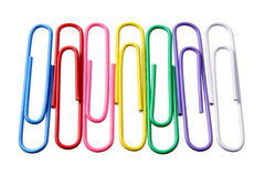 Paper Clips. On White Background Stock Image