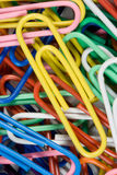 Paper clips. The multicolored world of the paper clip Royalty Free Stock Images
