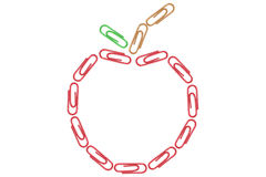 Paper Clips Apple Royalty Free Stock Photos