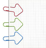 Paper clips. Arrow shaped paper clips. EPS10 vector image Royalty Free Stock Photos
