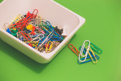 Paper clips / background Royalty Free Stock Photos