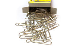 Paper clips from box Stock Image