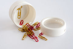 Paper clips and case Stock Photo