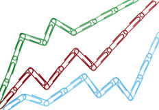 Paper clips chart graph finance business Royalty Free Stock Photo