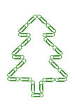 Paper Clips Christmas Tree Royalty Free Stock Photos