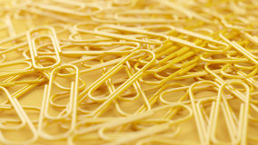 Paper clips close-up Royalty Free Stock Image
