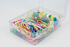 Paper clips Stock Photos