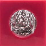 Paper Clips In A Container Stock Photo