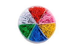 Paper Clips in Container Royalty Free Stock Photos