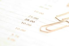 Paper clips and document Stock Photo