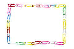 Paper clips frame Royalty Free Stock Photography