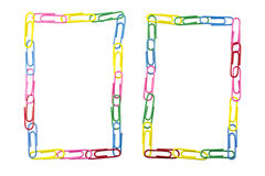 Paper clips frame Stock Photo