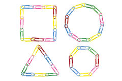 Paper clips frame Stock Photography