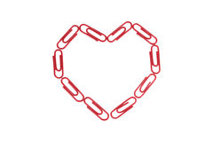 Paper Clips Heart Royalty Free Stock Photography