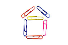 Paper Clips House Royalty Free Stock Images