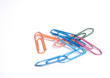 Paper clips II. Paper clips on white ground Stock Images