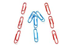 Paper clips isolated on white Royalty Free Stock Images