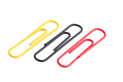 Paper clips isolated on white background Stock Image