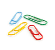 Paper clips isolated on white Royalty Free Stock Photography