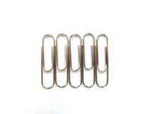 Paper clips. Isolated on white background Stock Photography