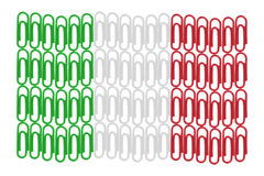 Paper Clips Italian Flag Stock Images