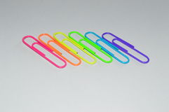 Paper clips:LGBT rainbow flag stock photography