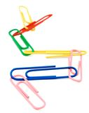 Paper Clips Linked Together Stock Photo