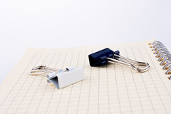 Paper Clips and notebook Royalty Free Stock Photos