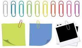 Paper Clips and Notes Royalty Free Stock Image