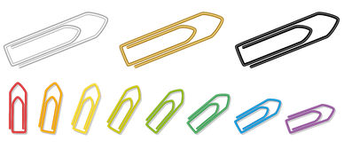 Paper Clips Rainbow Colors Collection Stock Photo