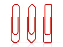 Paper clips. Red Stock Photos