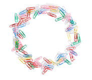Paper clips ring Royalty Free Stock Photos