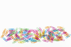 Paper clips in a row Royalty Free Stock Photo